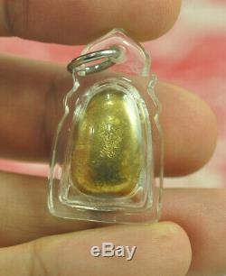 Natural Gold LEKLAI Thong pla lai became Phra Lp Tuad Thuad Thai Buddha Amulet S