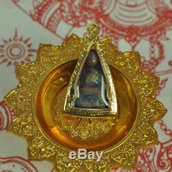 Natural LEKLAI 7 colors SURIYAN RACHA Lp Tuad Thuad Thai Buddha Amulet Somporn