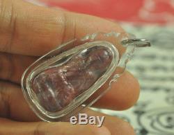 Natural Red Pure LEKLAI SURIYAN RACHA became Lp Tuad Thai Buddha Amulet Pendant