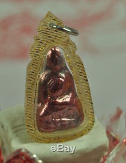 Natural Red Pure Sun LEKLAI SURIYAN RACHA Lp Tuad Thuad Top Thai Buddha Amulet