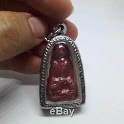 Natural red pure sun LEKLAI SURIYAN RACHA Lp Tuad Thuad Thai Buddha Amulet 02