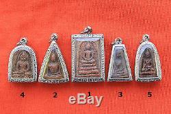 Nice Rare Powerful Top 5 Benjapakee Thai Buddha Amulet Pendant Good Luck TA087