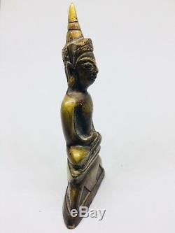 OLD PHRA NGANG CHAI Wat Thai BUDDHA AMULET ANTIQUE STATUE