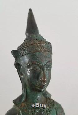 Old Phra Chai Bucha HUGE 12.6! Thai Amulet Ngang Victory Buddha Nang