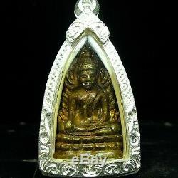 Old Rare Phra Buddha Chinnaraj Wat Suthad, Thai buddha amulet, Certificate Card