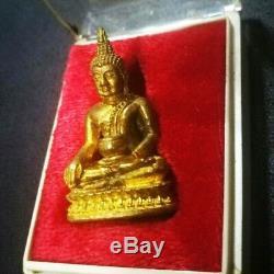 Old Rare Phra Kring LP Dhum Thai Amulet Wat Hua Lumphong 2426 Buddha Rich