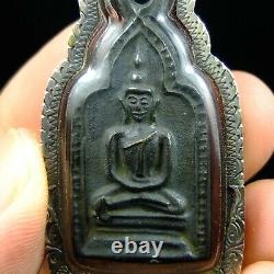 Old Thai Amulet Lp. Taa Wat Paniang Taek Temple Thai Buddha Amulet. Card