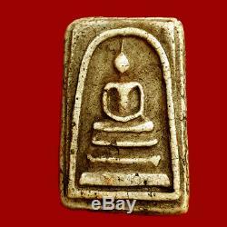 Old Thai Antiques Amulet Buddha 160 yr. Phra Somdej Lp Toh Wat Rakang Pim Yai