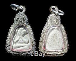 PHRA PIDTA Be. 2475 RARE Talisman Luck Protect Thai Buddha Amulet With Case Rare