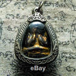 PHRA PIDTA LP KAEW WAT KRUAWAN PIM RANGBEAB Thai Amulet Luck Antiques Buddha Old