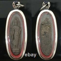 Phra 25th century Buddhist wat Pendant Talisman BE. 2500 Thai Buddha Amulet Old