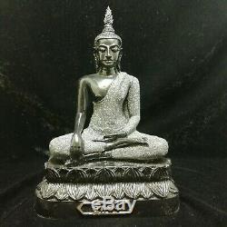 Phra Antique Statue Thai Buddha Amulet Rare Collection Genuine Wealth Monk Lp