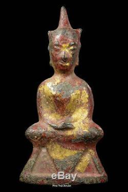 Phra Chai Ayutthaya Buddha Samrit 9cm-high Samrit Stautue Bucha Size Thai Amulet