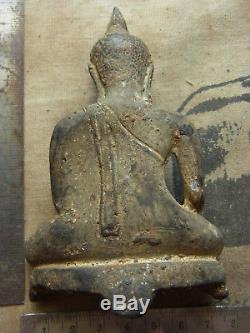 Phra Chiang San Bucha 2-300 yr, sing sam (3) Buddha Statue Thai Amulet