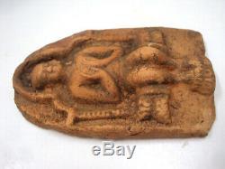 Phra Dvaravati Buddha Tablet Terracotta Bagan Pyu 1300 Years Old Thai Amulet