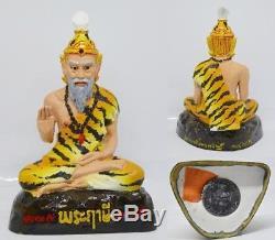 Phra Hermit Fire Eye Ruesri Statue LP Khee Thai Buddha Amulet Luck Fortune H 3
