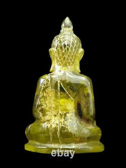 Phra Keaw Kru-hod Chuijia Rock Crytal Carved Statue Buddha Anceint Thai Amulet
