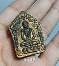 Phra Khun Paen Embed 2 Golden Takrud LP Tim Wat Rahanrai Thai Buddha Amulet 2515