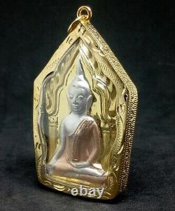 Phra Khun Paen LP Poon Behind Kuman Thong Treasure Pendant Thai Buddha Amulet
