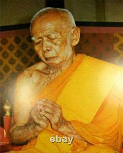 Phra Khun Paen LP Tim Amulet Wat Lahanrai Thai Magic Buddha Silver Case B. E. 2515