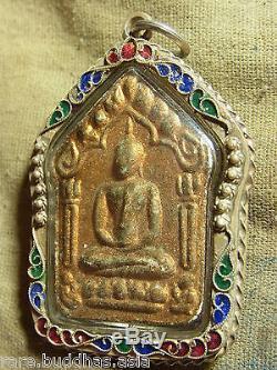 Phra Khun Paen, Phan, L P Tim, Phra Nakprok, Yunt Ha on the back, Thai Buddha amulet
