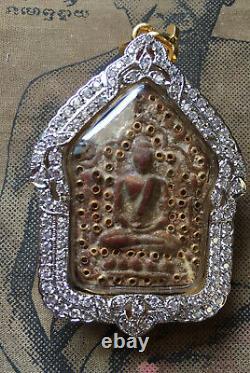 Phra Khun Paen Phan L P Tim Wat Rahanrai Takroot Thai Buddha amulet year 2518