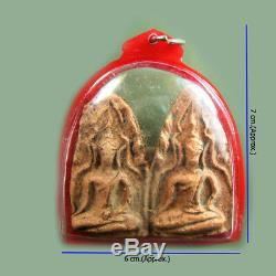 Phra Khun Paen Wat Bangklang Talisman, Pendant, Thai Buddha Magic Amulet Lucky