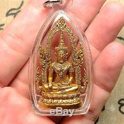 Phra Kring Chinnarat (cha-na-marn)Wat Phra Si Ratana Mahathat Thai Buddha Amulet