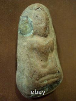 Phra Kru Tiger Cave Buddha Talisman Figure 1300 year Old Thai Amulet Buddhism