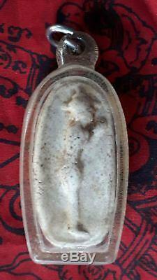 Phra Kru Wat Tai Talad, Thai Amulet Buddha Good Lucky Charm Talisman Pendant
