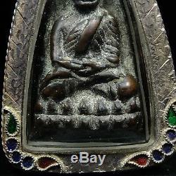 Phra L P Thuad Wat Chang Hai, Bronze, Year 2497 very rare special Thai Buddha