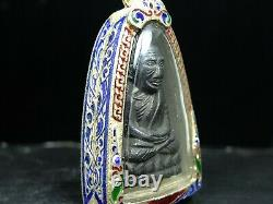Phra L P Thuad Wat Chang Hai, Bronze, Year 2505 very rare special Thai Buddha