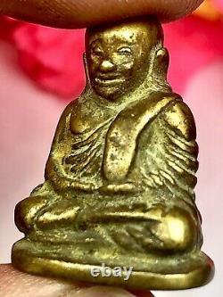 Phra LP Ngern Statue Wat Bangklan Certificate Card Talisman Thai Amulet Buddha