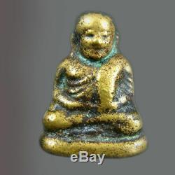 Phra Lp Ngern Thai Amulet Powerful For Money Buddha Lucky Talisman Charm Pendant