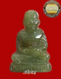 Phra Lp Toud Wat Changhai Jade Caved Magic Statue Real Jade Buddha Thai Amulet