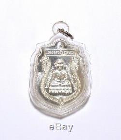 Phra Lp Tuad Model TaiRomYen BE. 2557 925 Silver Coin Thai Buddha Amulet #REAL
