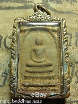 Phra Luang Pu Tim, Yun Ha, Wat Rahanrai, Rayong, yr 2517 Thai Buddha Amulet