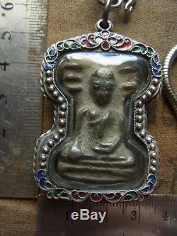 Phra Mahesuan Kru Wat Phra sri Mahathat, Suphanburi Thai Buddha Amulet necklace