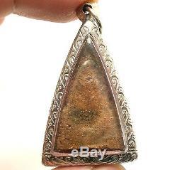 Phra Nangphaya Thai Antique Real Powerful Buddha Lucky Rich Happy Amulet Pendant