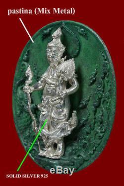 Phra New Hermit Cheevaka Doctor Healing Lord Thai Buddha Amulet Health Silver