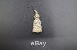 Phra Ngan Chai Hang Ngang Make from Silver Thai Buddha amulet statue