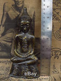 Phra Ngang Bucha Statue, Ayutthaya Old 200 year Thai Buddha Amulet