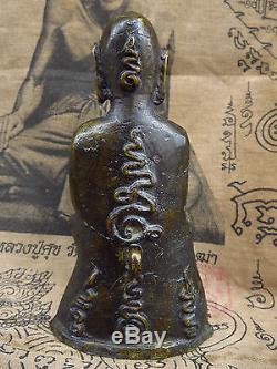 Phra Ngang Bucha Statue Panom, Ayutthaya Old 200 year Thai Buddha Amulet