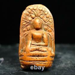 Phra Pern Lamphun Kru Wat Mahawan, Phim Yai, Thai Buddha Amulet, silver Case