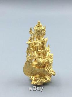Phra Phom 4 Face Head Brahma LP Yoon Thai Buddha Amulet Luck Gold Power Magic