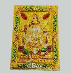 Phra Phrom 4 Face Buddha LP Wan Thai Amulet Lord of Luck Wealth Success Business
