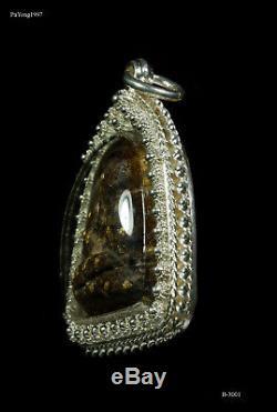 Phra Pidta 29 Takrud Solid Gold Monk Pendant Thai Buddha Amulet Prefect