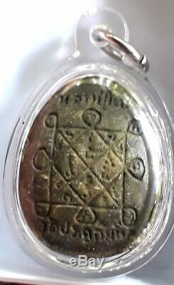 Phra Pidta Amulet Pim Small LP Toh Wat Pradu Chimplee Talisman Real Thai Buddha