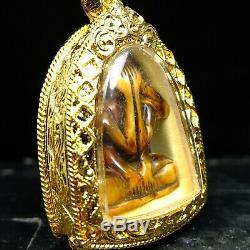 Phra Pidta Arjan Aed khow Ao, Wat Donsala Temple, Thai buddha amulet 3