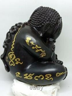 Phra Pidta Closing Eye Buddha Thai Amulet LP Rod Charm Talisman Wealth Statue #3